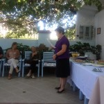 Saliha welcoming the group