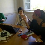 Mine speaking with the prose group