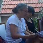 Nilgun at the group reading