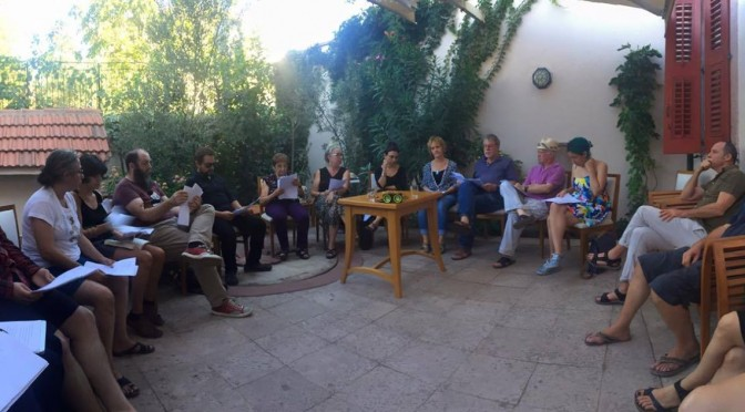 Panorama of group reading