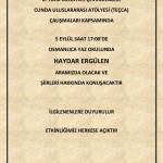 Poster for Haydar Ergülen's Reading